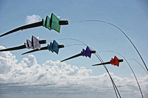 Photograph - St. Annes. Pagoda Kites. by Lachlan Main