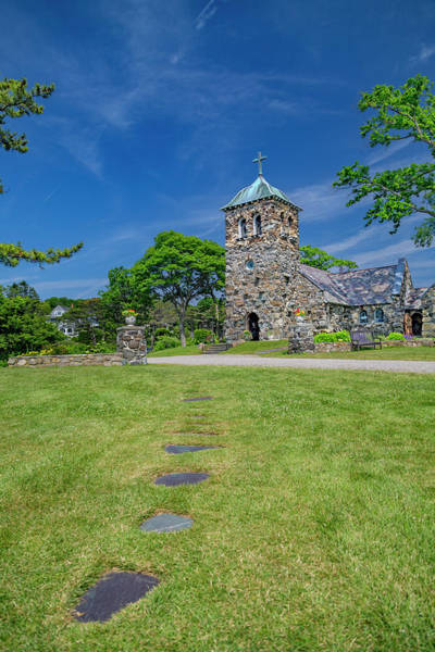 Kennebunkport Maine Photograph - St Ann's Church Peaceful Kennebunkport Maine by Betsy Knapp