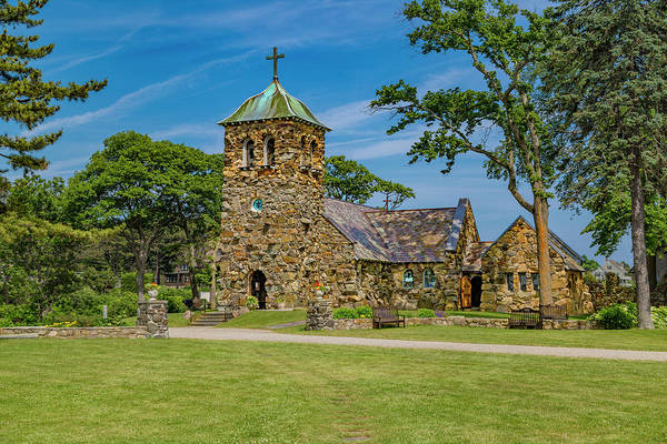 Kennebunkport Maine Photograph - St Ann's Episcopal Church Kennebunkport Maine by Betsy Knapp