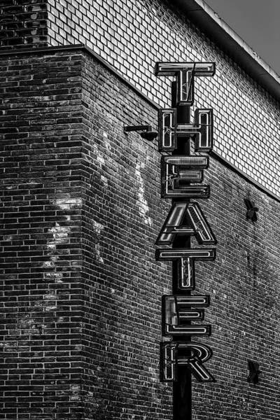 Photograph - St. Anns Warehouse Theatre Bw by Susan Candelario