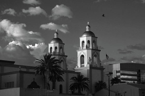 Photograph - St. Augustine Cathedral Black And White by Chance Kafka