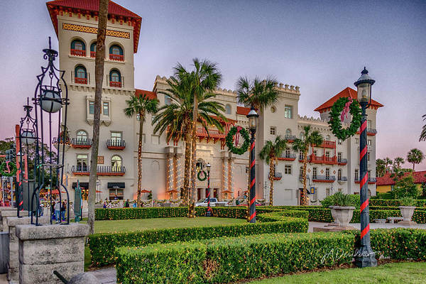 St Augustine Photograph - St. Augustine Downtown Christmas by Joedes Photography
