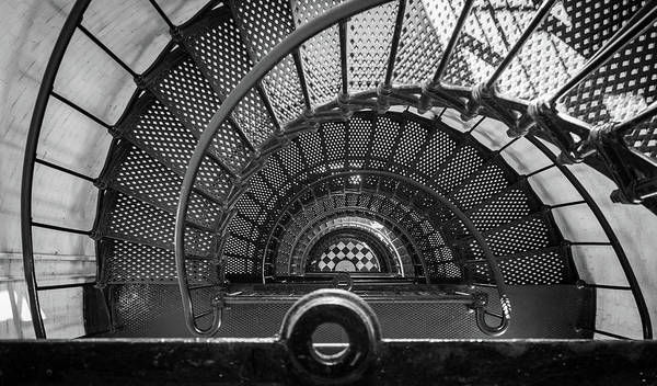 Photograph - St Augustine Lighthouse Looking Down by David Hart
