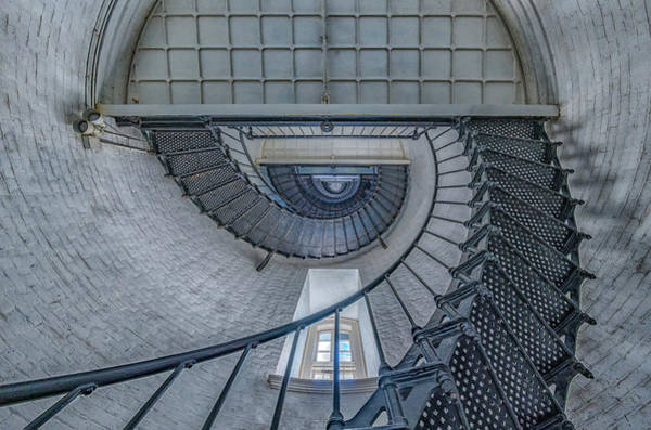 Photograph - St Augustine Lighthouse Stairway by Jeffrey Klug