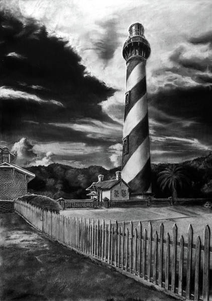 Drawing - St. Augustine Lighthouse by William Underwood