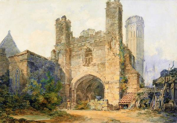 Wall Art - Painting - St. Augustines Gate, Canterbury - Digital Remastered Edition by William Turner