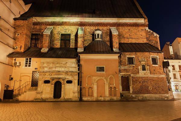 Wall Art - Photograph - St Barbara Church At Night In Krakow by Artur Bogacki