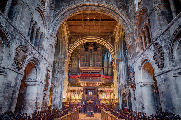 Wall Art - Photograph - St Bartholomew The Great Organ Loft by Stephen Stookey