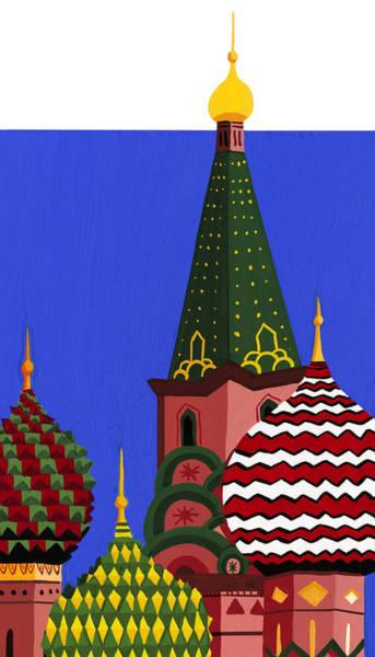 Wall Art - Digital Art - St. Basils Cathedral, Red Square by Matt Olson