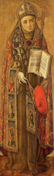 Wall Art - Painting - St Bonaventura, 1502 by Vittore Crivelli