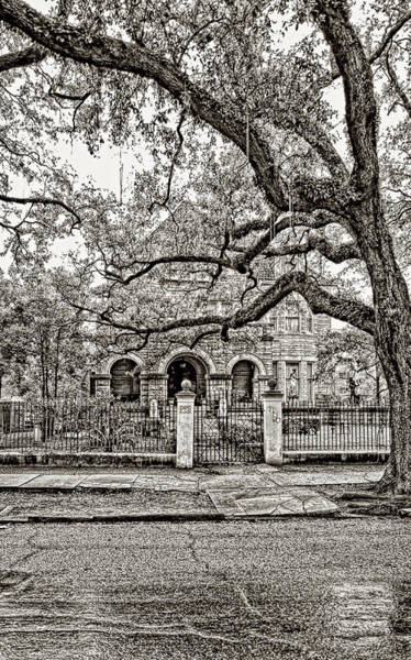 Charles Mansion Photograph - St. Charles Ave. Mansion - A Rainy Day Sepia by Steve Harrington
