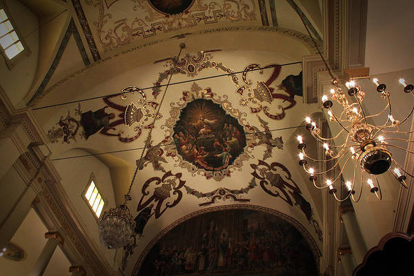 Photograph - St. Louis Cathedral Vaulted Ceiling by Debi Dalio