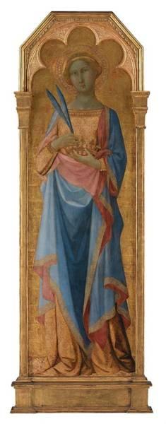 Wall Art - Painting - St  Corona  by Master of Palazzo Venezia Madonna