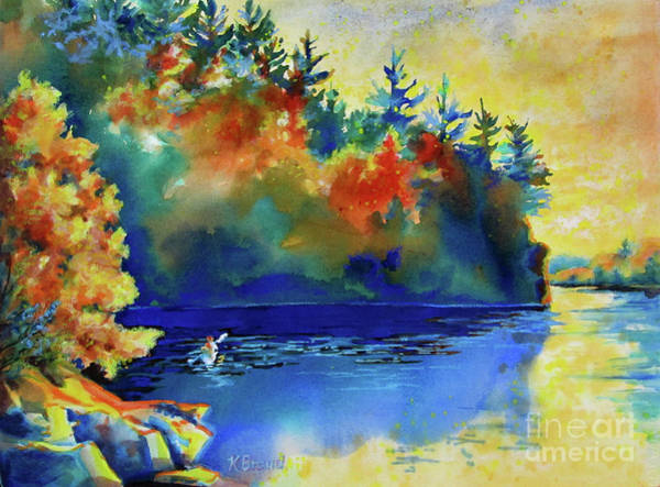 Wall Art - Painting - St. Croix River Scene by Kathy Braud