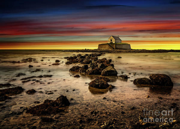 Wall Art - Photograph - St Cwyfan Sunset by Adrian Evans