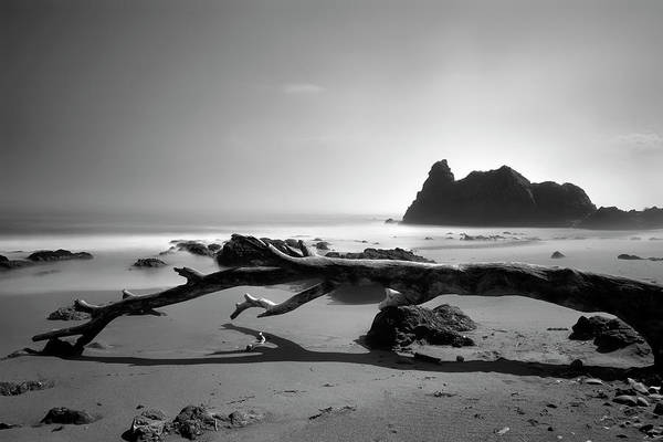 Photograph - St Cyrus Beach - Scotland - Black And White by Jason Politte