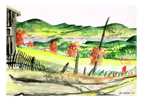 Painting - St. David Ridge, Nb by Art MacKay