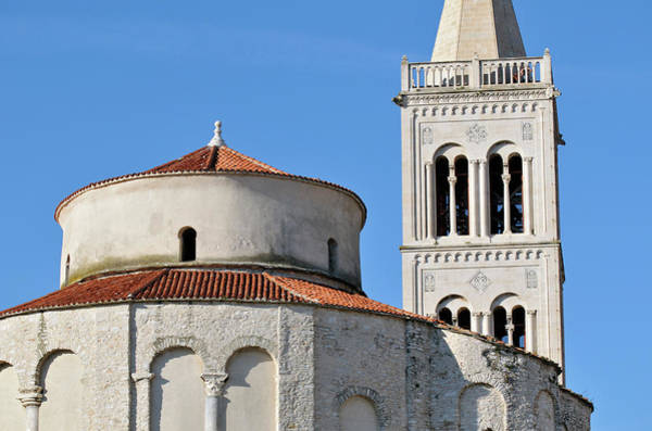 Rotunda Photograph - St. Donat Church And Campanile, Zadar by Petr Svarc