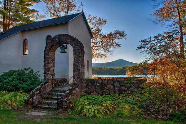 Photograph - St Francis Chapel Mountain Scene - Marlborough Nh by Joann Vitali