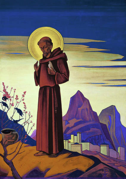 St Nicholas Painting - St Francis - Digital Remastered Edition by Nicholas Roerich