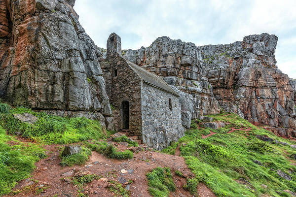 Wall Art - Photograph - St Govan's Chapel - Wales by Joana Kruse