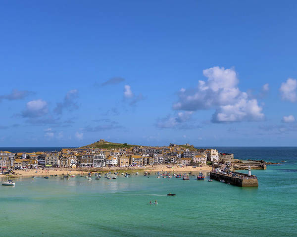 Photograph - St Ives Cornwall - General View by Eddy Kinol