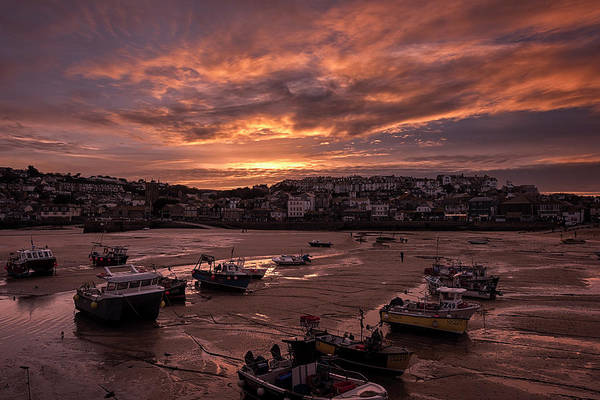 Photograph - St Ives Cornwall - Harbour Sunset by Eddy Kinol