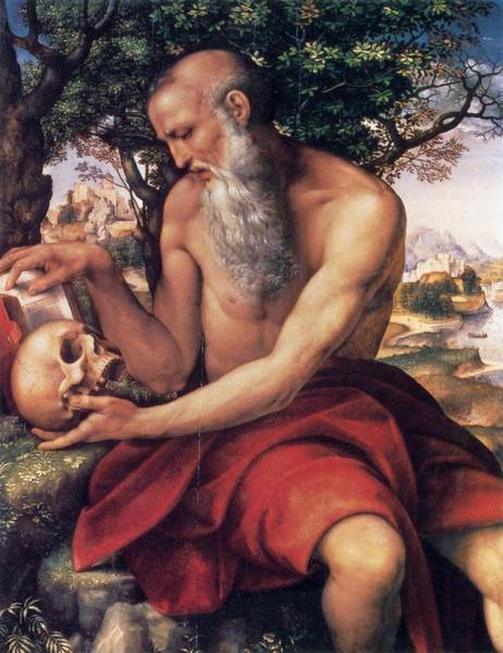 Cesare Painting - St. Jerome 1520-1523 Southampton City Art Gallery by Cesare da Sesto