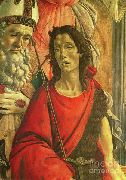 Wall Art - Painting - St John The Baptist, Detail From The Altarpiece Of St Barnabas Circa 1487 by Sandro Botticelli