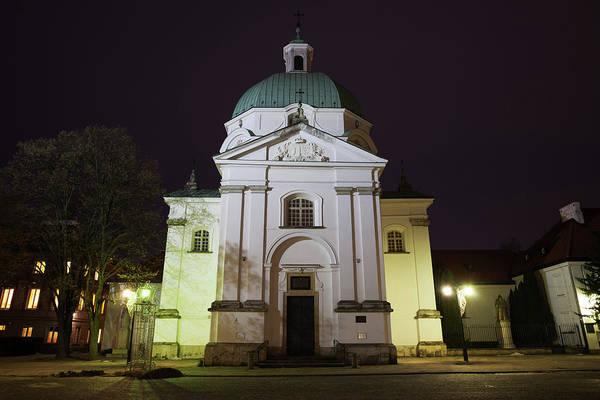 Wall Art - Photograph - St Kazimierz Church At Night In Warsaw by Artur Bogacki