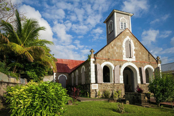 St Kitts Photograph - St Kitts And Nevis, Nevis Charlestown by Walter Bibikow