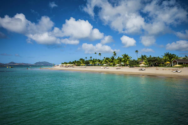 St Kitts Photograph - St Kitts And Nevis, Nevis Pinney's Beach by Walter Bibikow