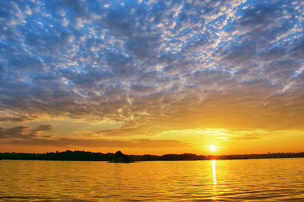 Photograph - St Lawrence River Sunset by Christina Rollo