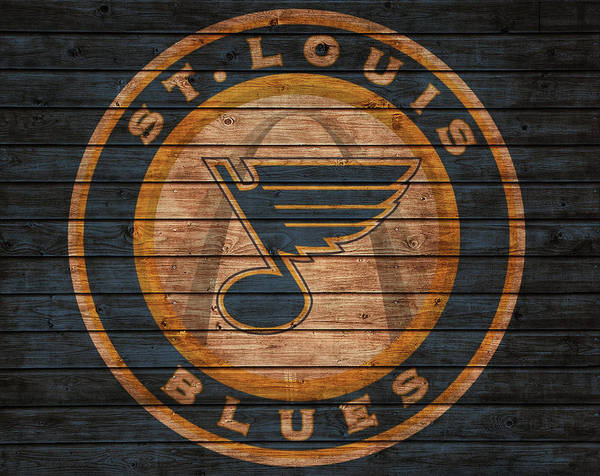 Mixed Media - St Louis Blues Barn Door by Dan Sproul