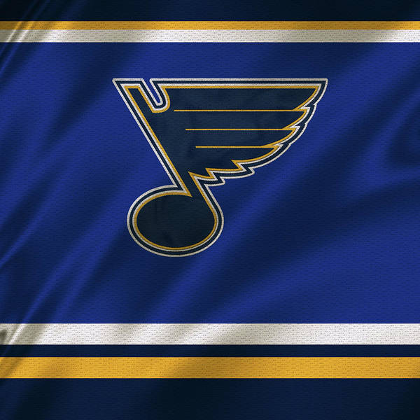 Wall Art - Mixed Media - St Louis Blues Uniform 1 by Joe Hamilton