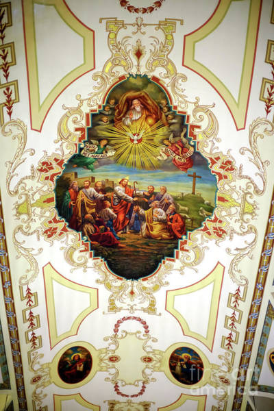 Wall Art - Photograph - St. Louis Cathedral Ceiling In New Orleans by John Rizzuto
