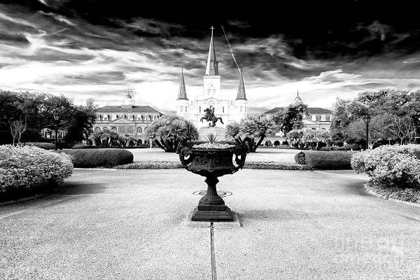 St Andrews Photograph - St. Louis Cathedral Dimensions New Orleans by John Rizzuto
