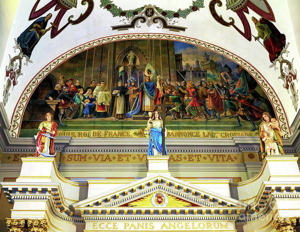 Photograph - St. Louis Cathedral High Altar Art In New Orleans by John Rizzuto
