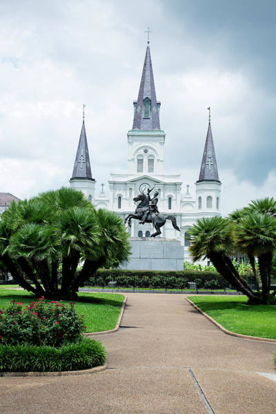 Louisiana Photograph - St. Louis Cathedral Jackson Square by Alina555