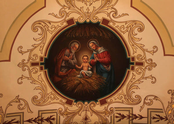Photograph - St. Louis Cathedral Nativity Scene by Debi Dalio