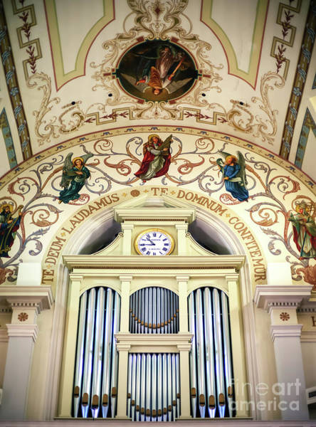 Photograph - St. Louis Cathedral Organ In New Orleans by John Rizzuto