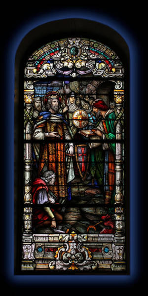 Photograph - St. Louis Cathedral Stained Glass Window by Debi Dalio