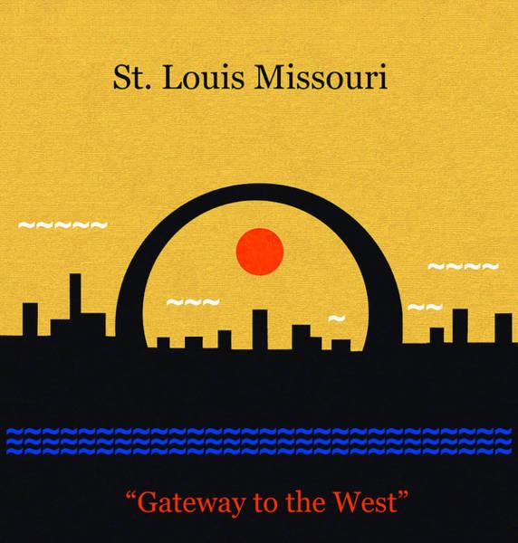Wall Art - Digital Art - St. Louis Gateway To The West Minimalsim Art by David Lee Thompson