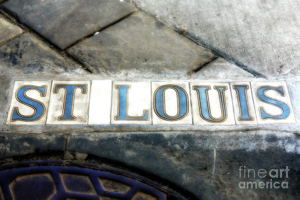 Photograph - St. Louis Street New Orleans by John Rizzuto