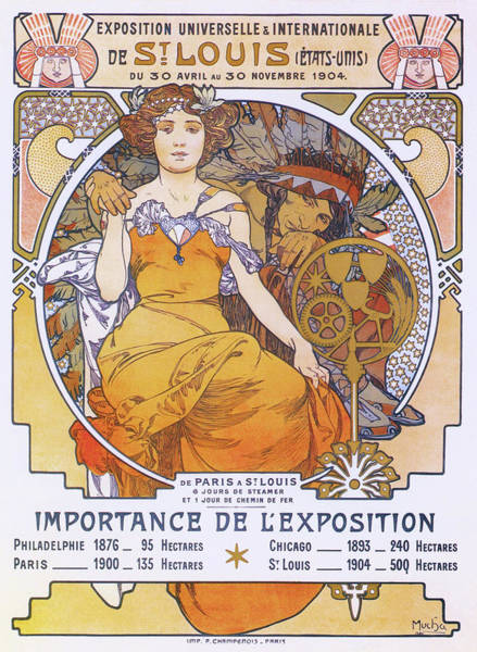 Wall Art - Painting - St. Louis World Exposition - Digital Remastered Edition  by Alfons Maria Mucha