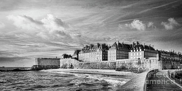 Wall Art - Photograph - St Malo Black And White Brittany France by Colin and Linda McKie