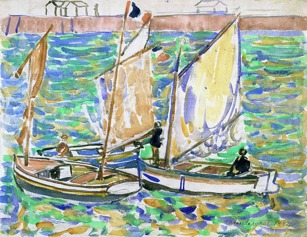 Wall Art - Painting - St. Malo - Digital Remastered Edition by Maurice Brazil Prendergast