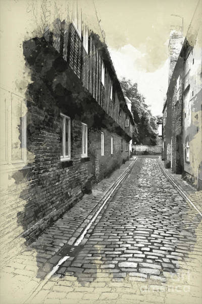 Kings Lynn Wall Art - Painting - St Margarets Lane, Kings Lynn, England by John Edwards