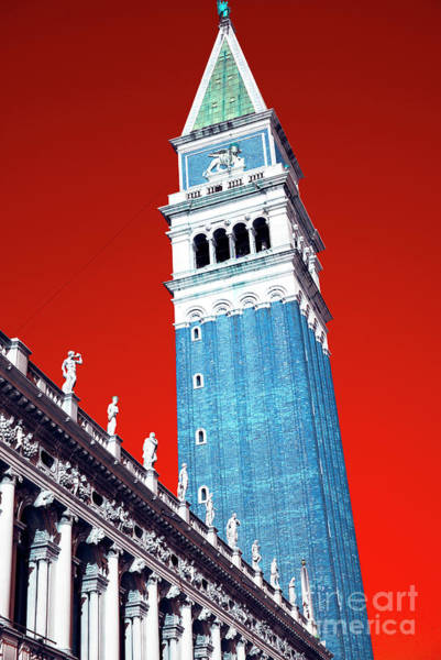 Wall Art - Photograph - St. Mark's Bell Tower Pop Art Venice by John Rizzuto
