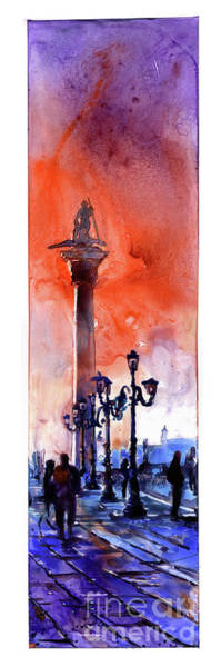 Wall Art - Painting - St. Mark's Square- Venice by Ryan Fox